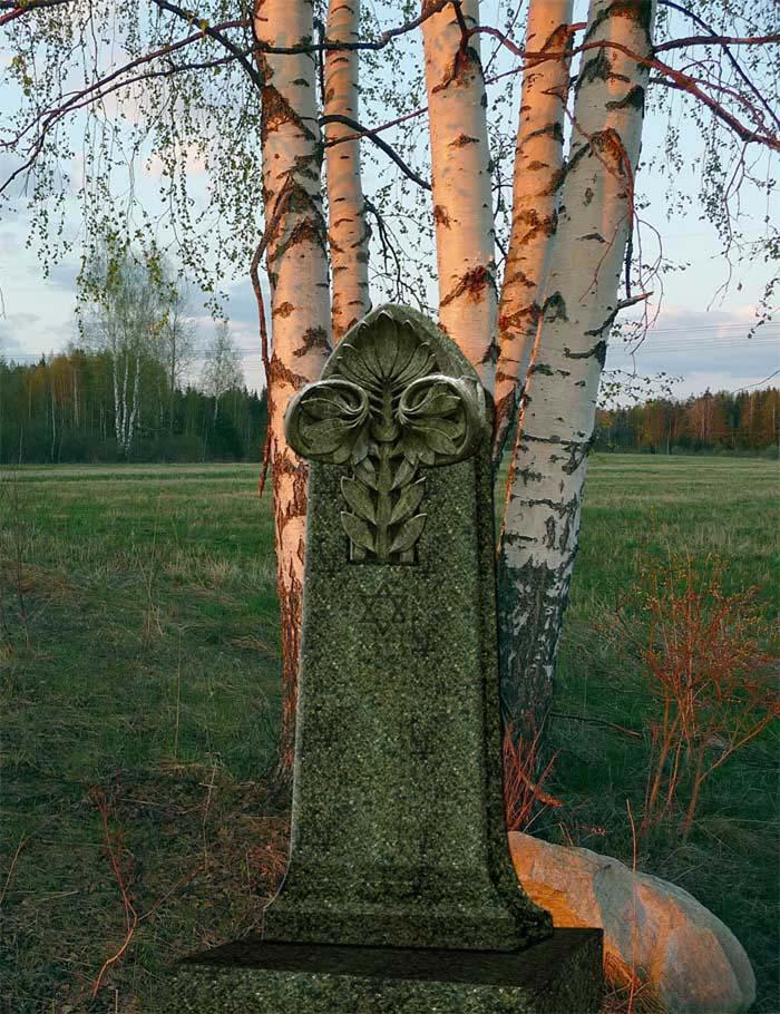 Эскиз иудейского надгробия