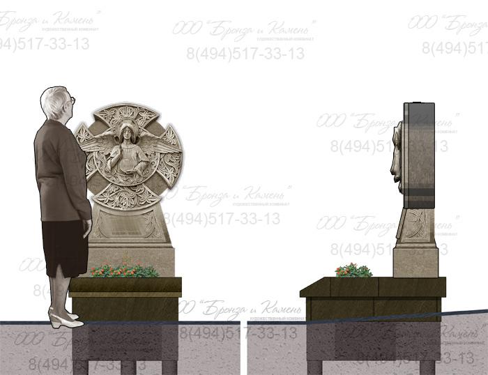 Памятник с ангелом. Эскиз.