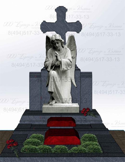 Проект памятника с колено преклоненным ангелом