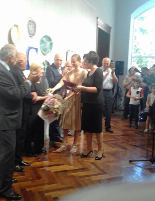 Поздравление Валентины Хурхумал в день открытия выставки